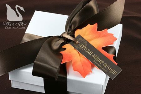 Beautiful Autumn Bridesmaids Jewelry Gift Packaging