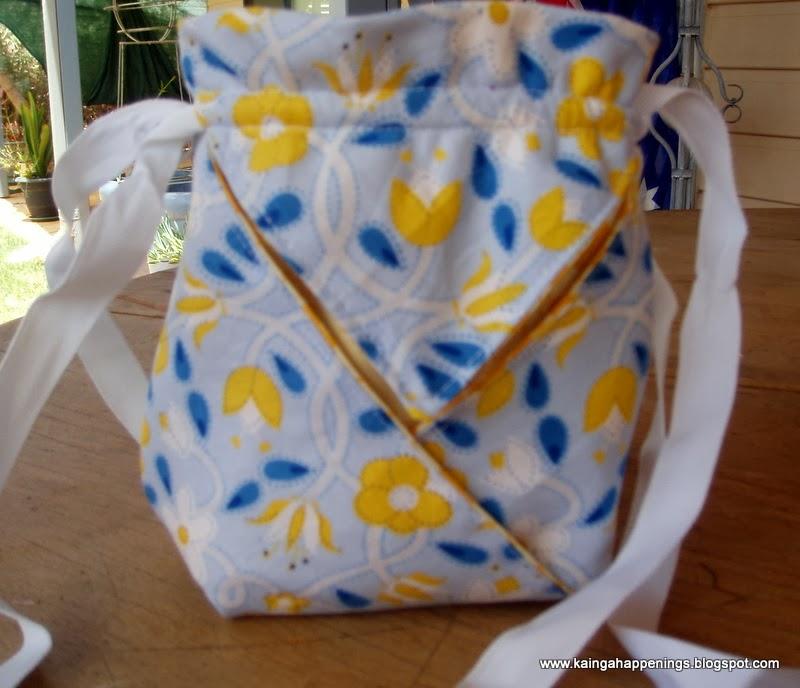 Fabric Origami Bukuro Aka Japanese Folded Bag