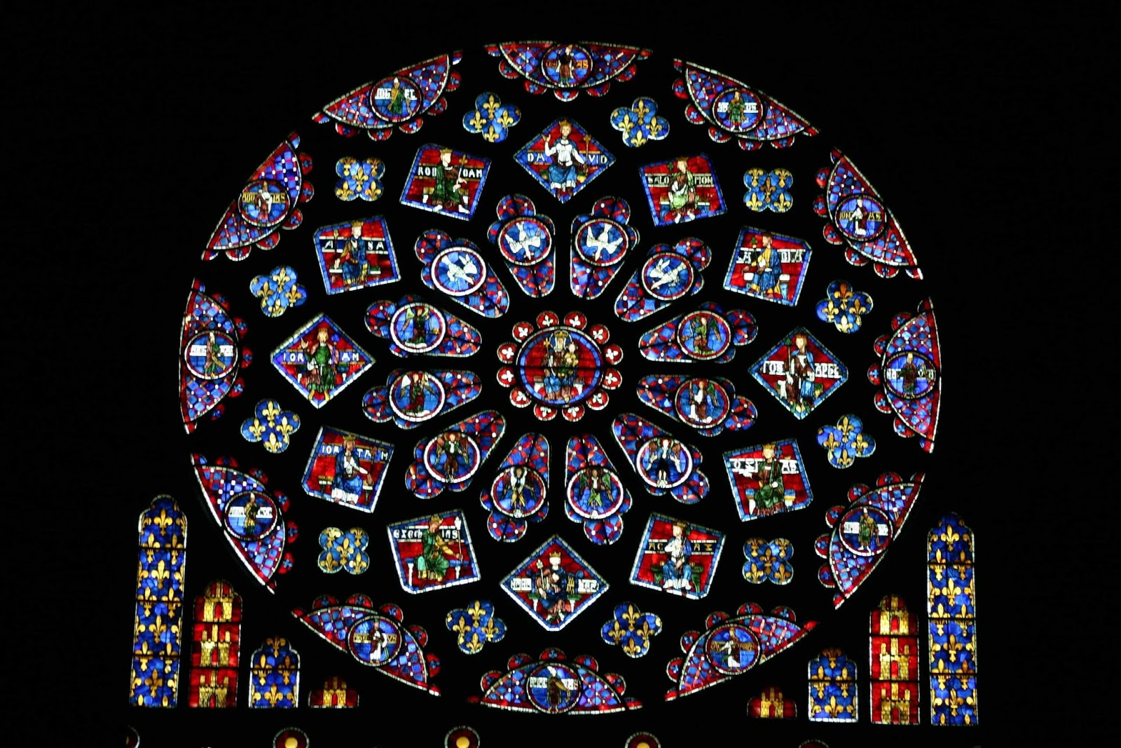 The Image Above Is From A Window At Chartres