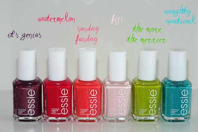 Essie nail polish summer haul Essie, nail polish, beauty, Fiji Naughty Nautical and Sunday Funday The More The Merrier. It's a Genius Watermelon
