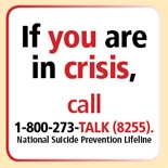 National Suicide Prevention Lifeline 18002738255