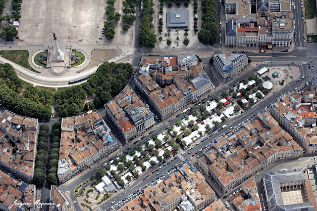 Photo aérienne des Epicuriales à Bordeaux