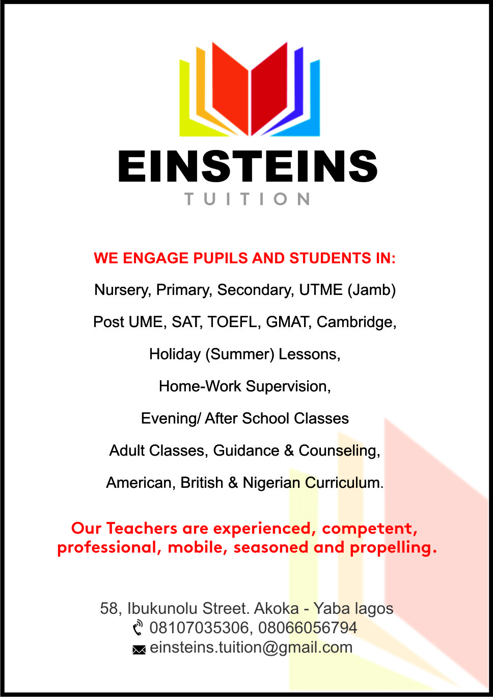 EINSTEINS TUITION