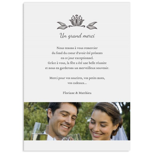 remerciements mariage original ornement vintage partir de 099 - Modele Carte Remerciement Mariage