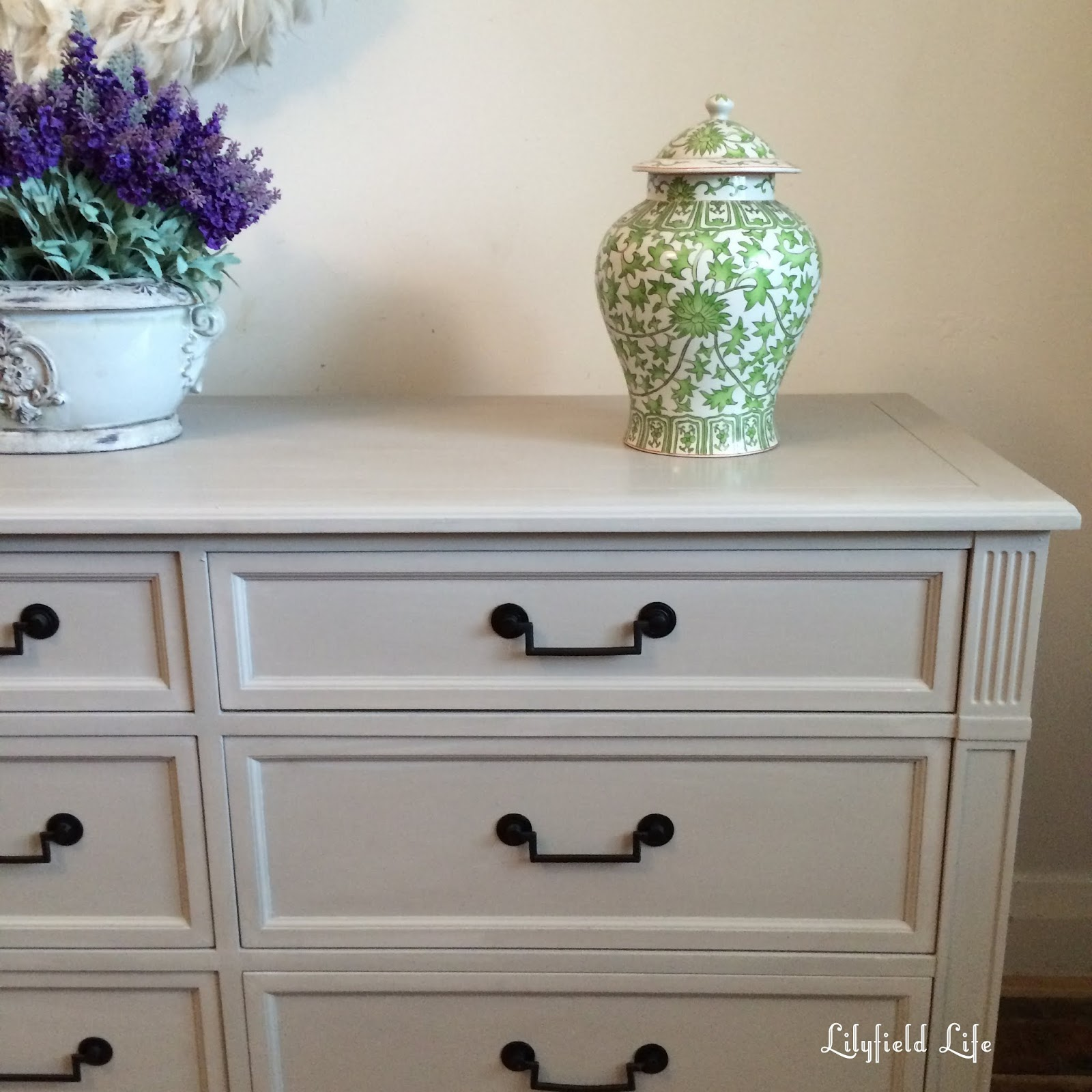 Lilyfield Life Hand Painted French Drawers In Pale Taupe
