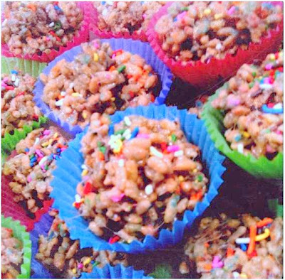 cake batter birthday cake rice krispy treats