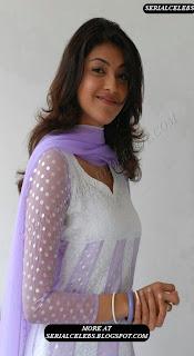 Kajal Agarwal in white chudidar