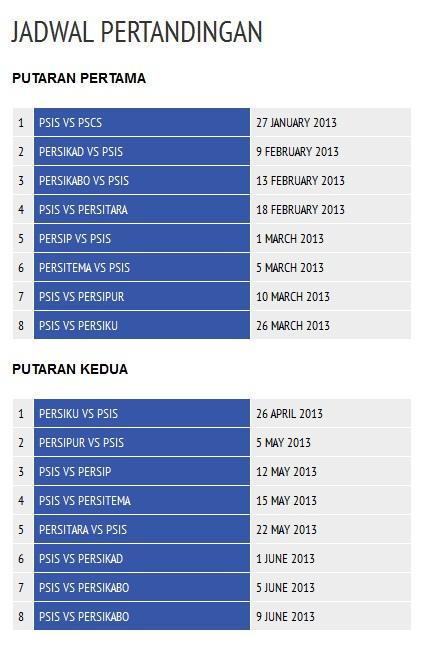 Jadwal PSIS Semarang