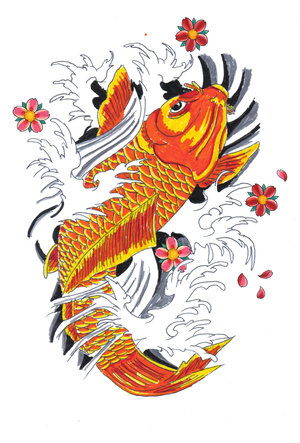 Japanese  Fish on Japanese Koi Fish Tattoos   Type Tattoos