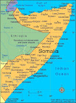 map of Somalia showing major towns