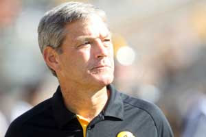 Iowa HC Kirk Ferentz was called Fetus-Head by high school teammates.