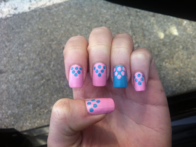 Dot Triangle Pink and Blue 3