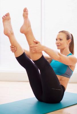 Wearing yoga pants to do yoga