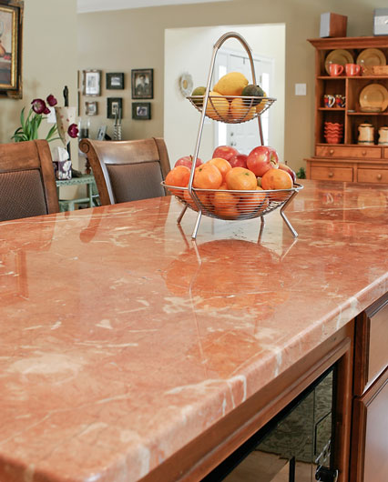 how to clean marbl countertop