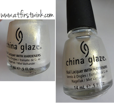 China glaze 951 White cap nail polish bottle