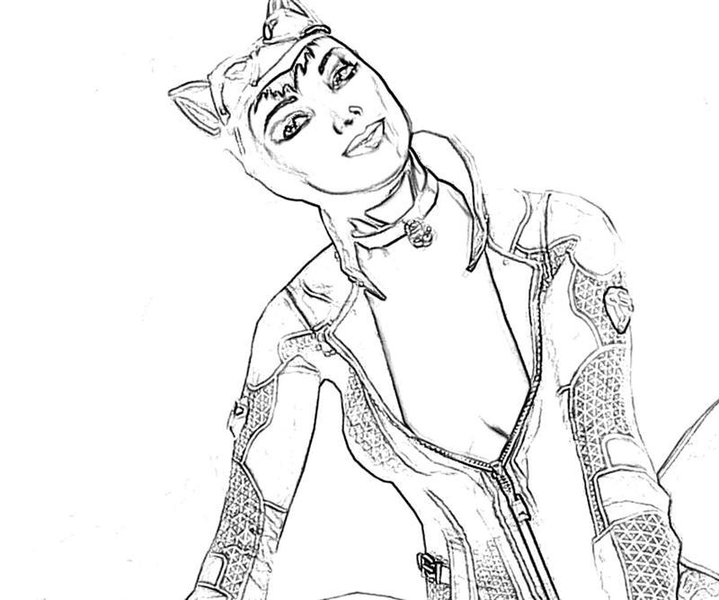 Free coloring pages of catwoman