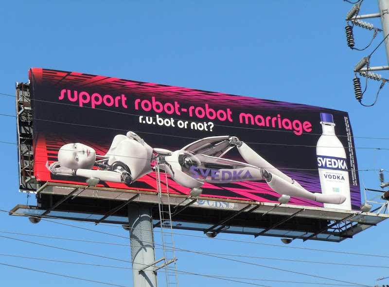 Svedka Vodka robot marriage billboard