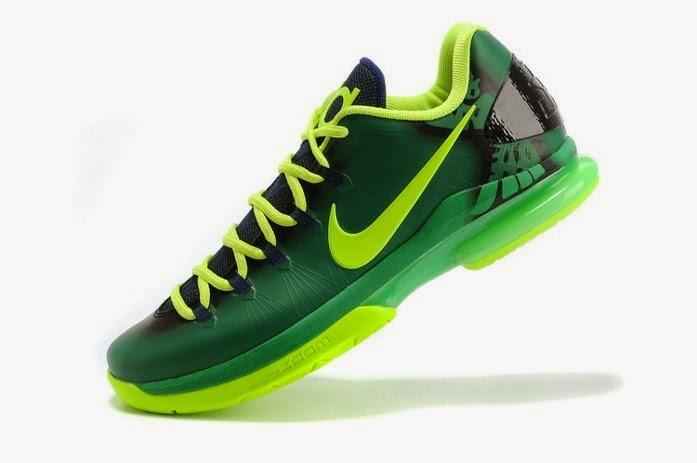 Nike Zoom KD V ELITE Series Basketball Shoes Image Green
