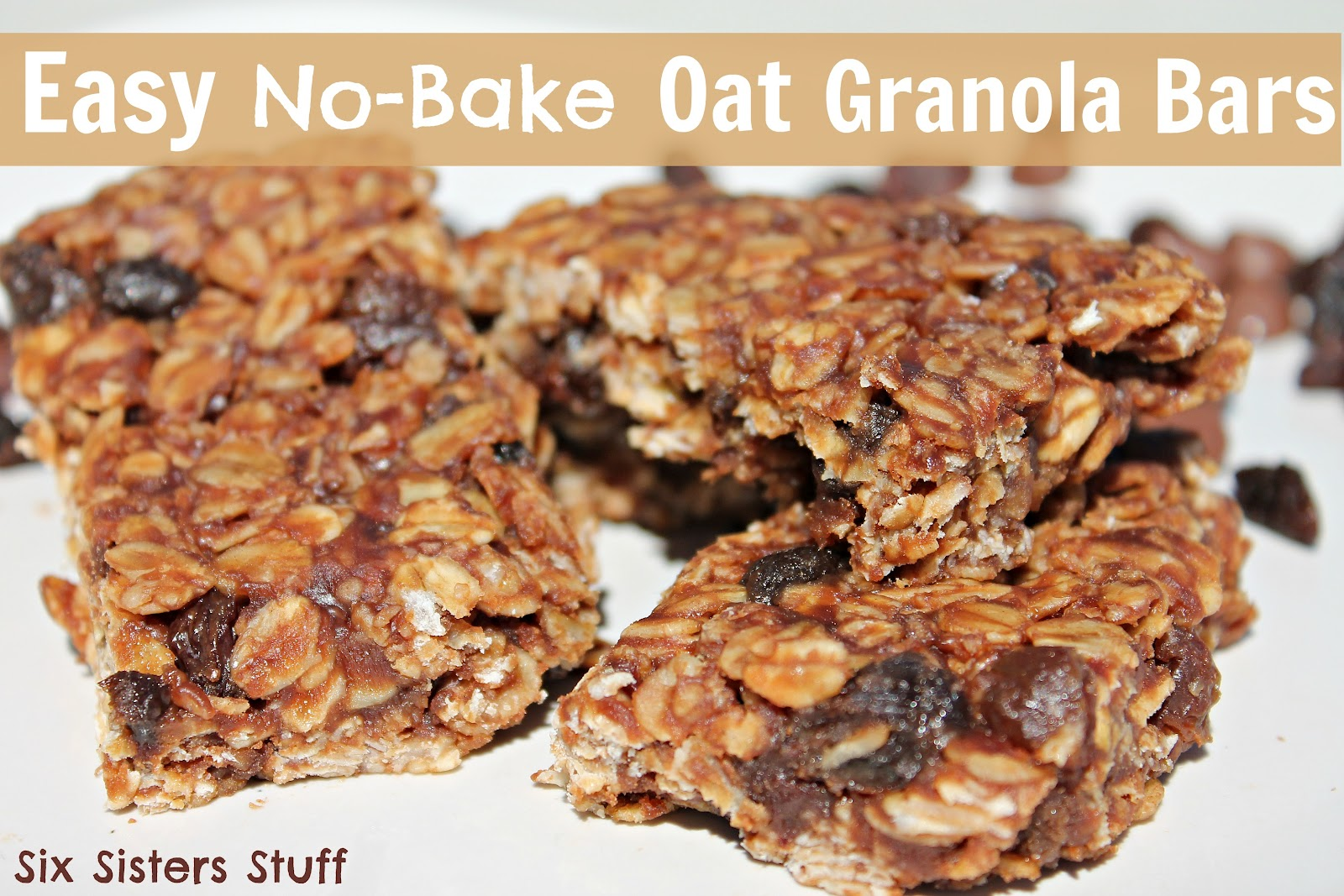Easy No Bake Oat Granola Bars | Six Sisters' Stuff
