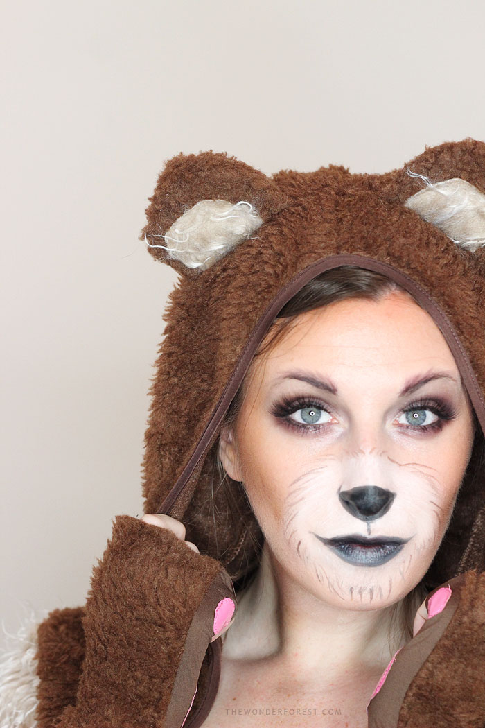 cute bear makeup tutorial for halloween wonder forest