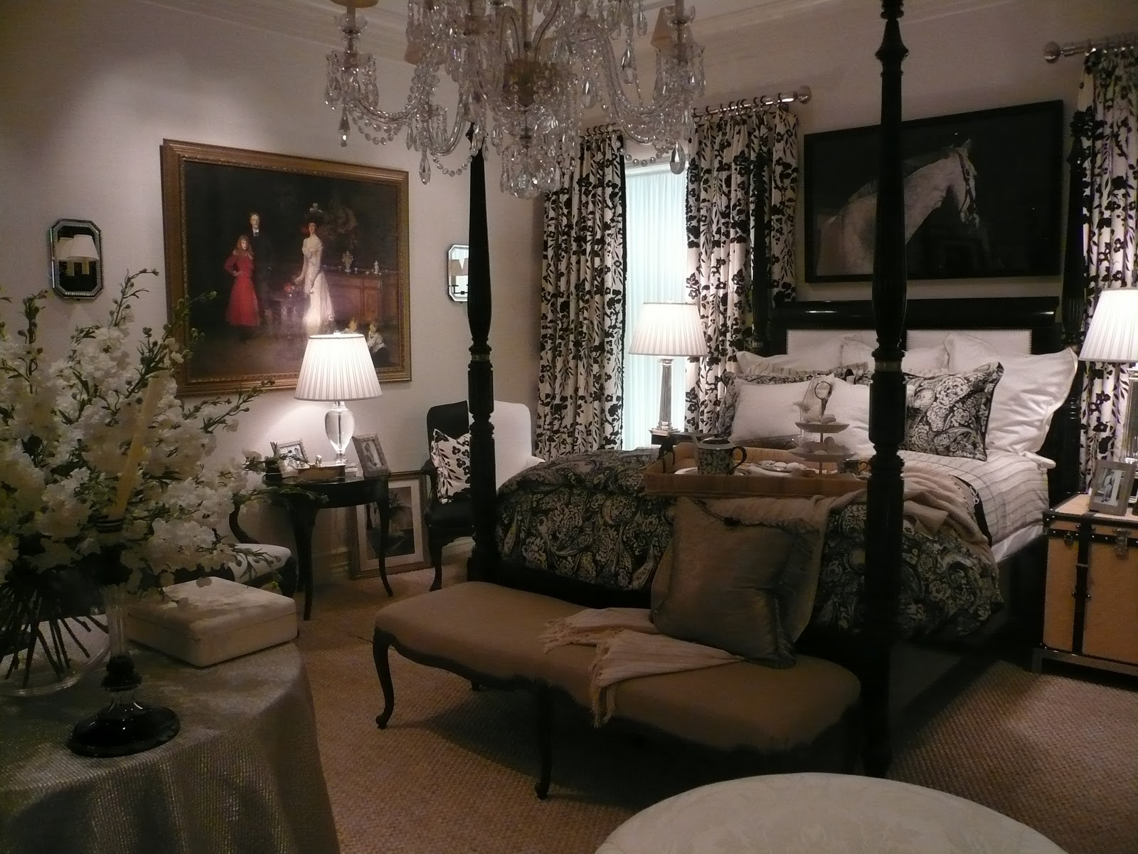 New england fine living beautiful master bedrooms with for Ralph lauren living room designs