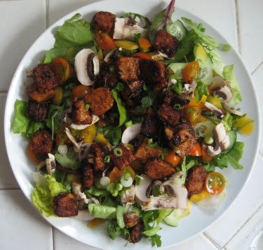 ol' reliable seared tempeh salad