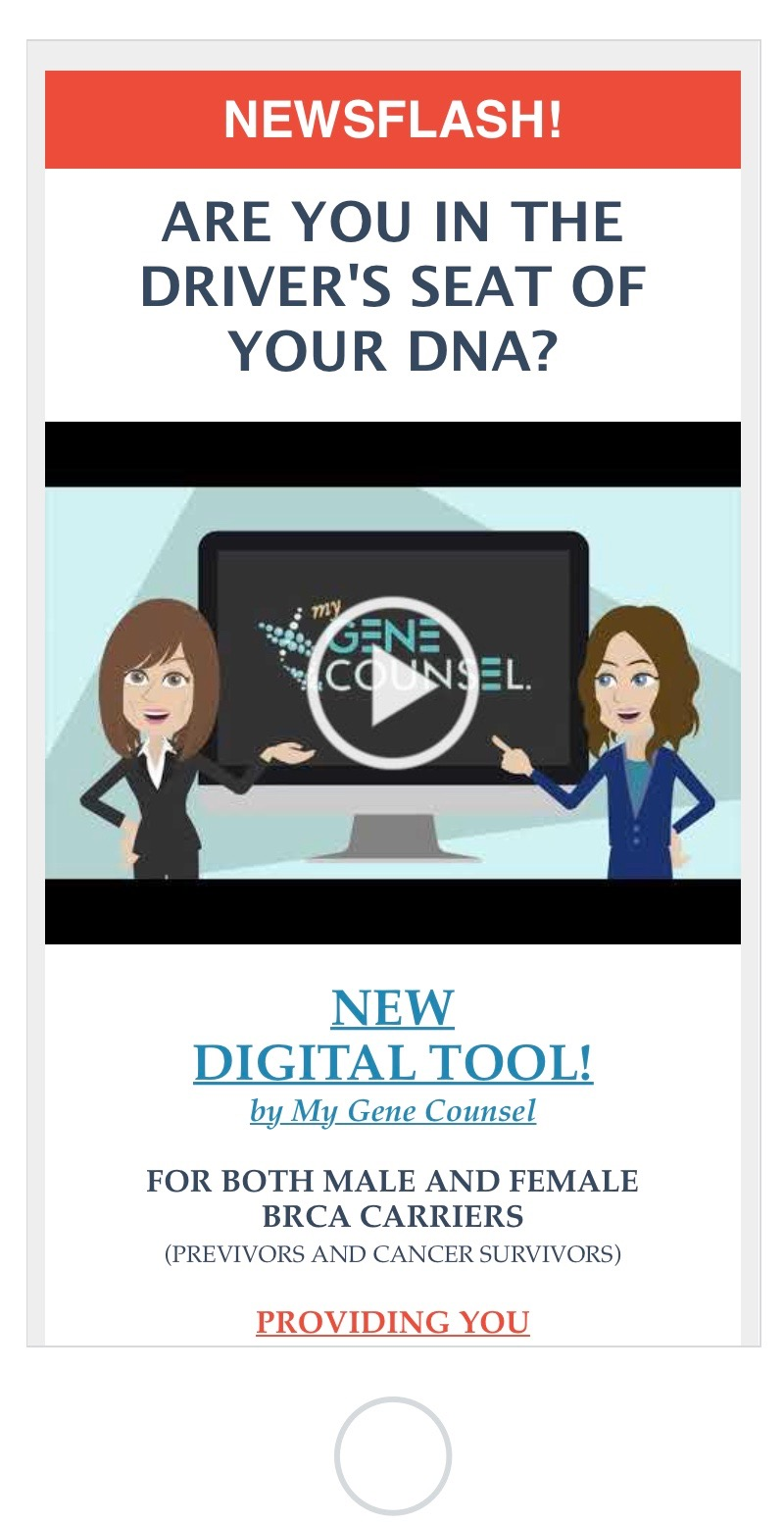 NEW DIGITAL TOOL FOR BRCA CARRIERS!