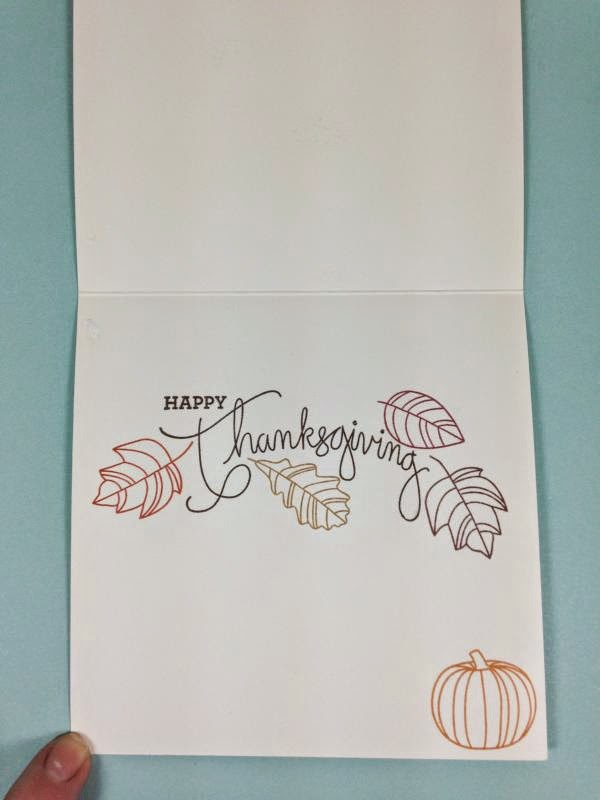Close To My Heart Art Philosophy Cricut cartridge Always Grateful Pumpkin card inside