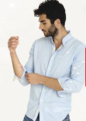 camisa manga larga hombre sidecar