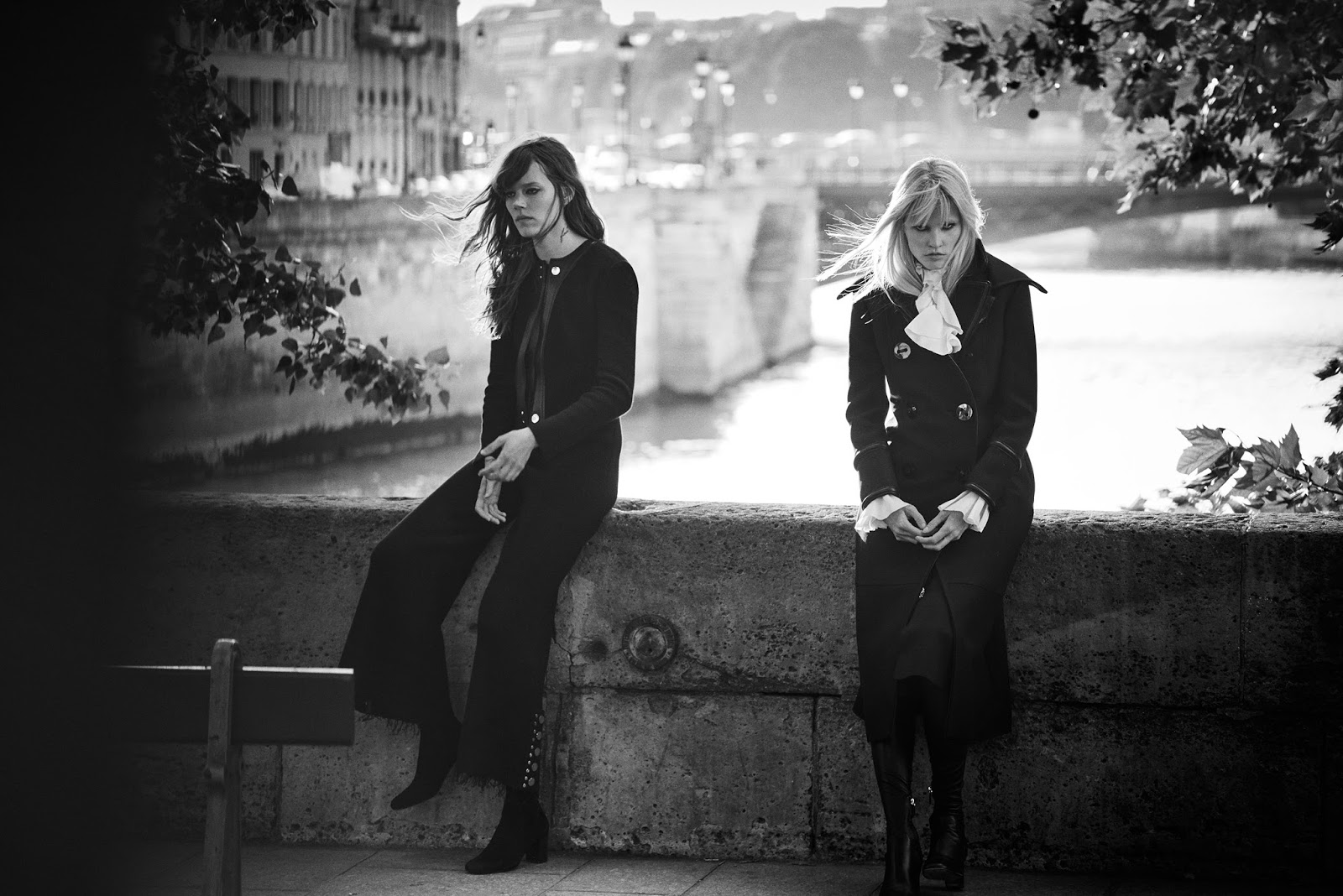 Freja Beha & Lara Stone photographed by Peter Lindbergh & styled by Sarah Richardson for W November 2015 via www.fashionedbylove.co.uk british fashion blog