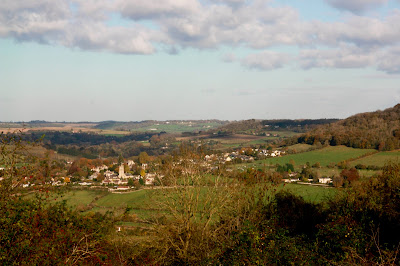 View of Bathampton from the Bath Skyline Walk