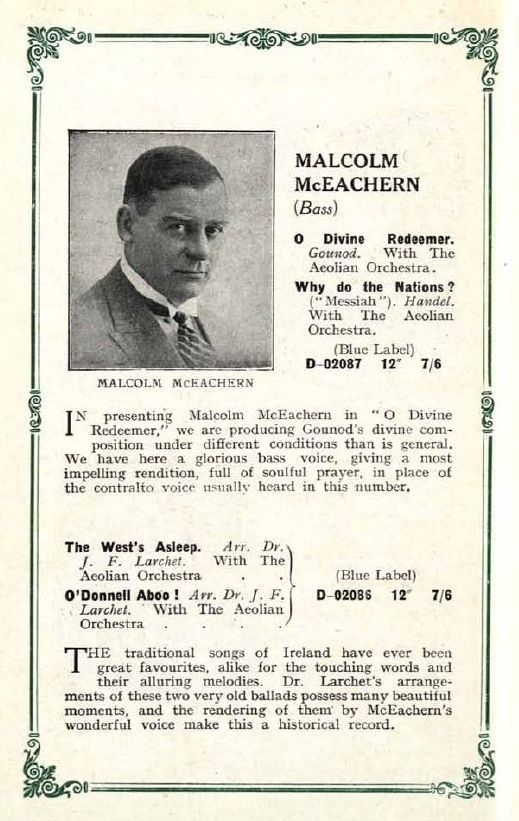 GREAT ENGLISH BASS MALCOLM MCEACHERN (1883-1945) CD