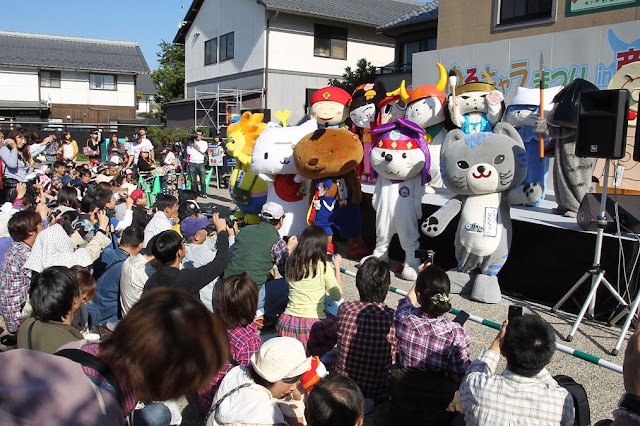 Yu-Ru-Chara Festival in Hikone, holy place for Yu-Ru-Chara
