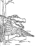 Big Realistic Alligator Kids Printable Coloring Pages