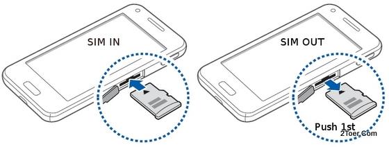 Samsung Galaxy Beam GT I853 Insert Memory Card Remove microSD Slot