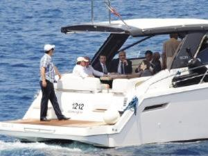 inspection from a boat in bodrum