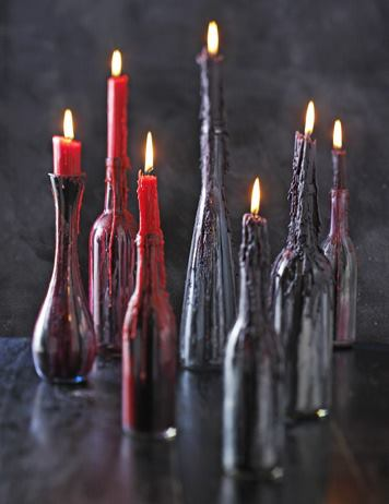 Botellas Candelabros decoración