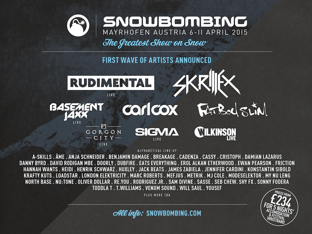 snowbombing 2015 lineup
