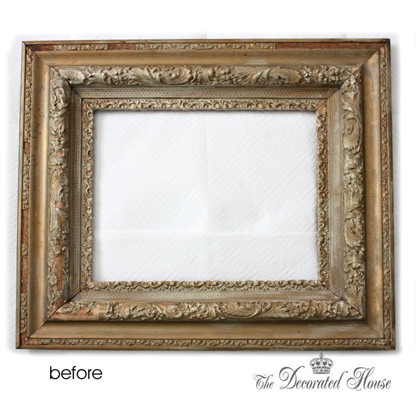 how to antique glaze and wet distressing a perfectly imperfect frame with annie sloan paris grey chalk paint