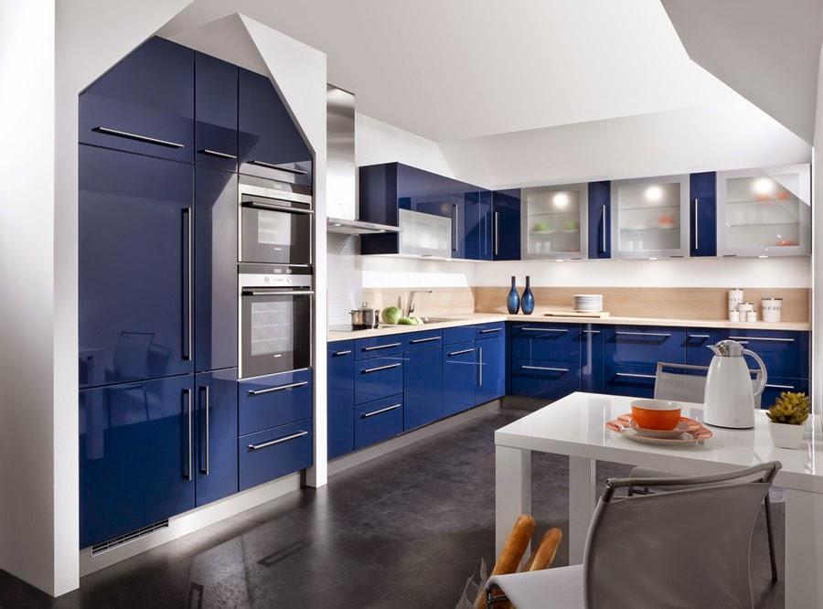 10 fotos de cocinas azules colores en casa for Colores cocinas modernas