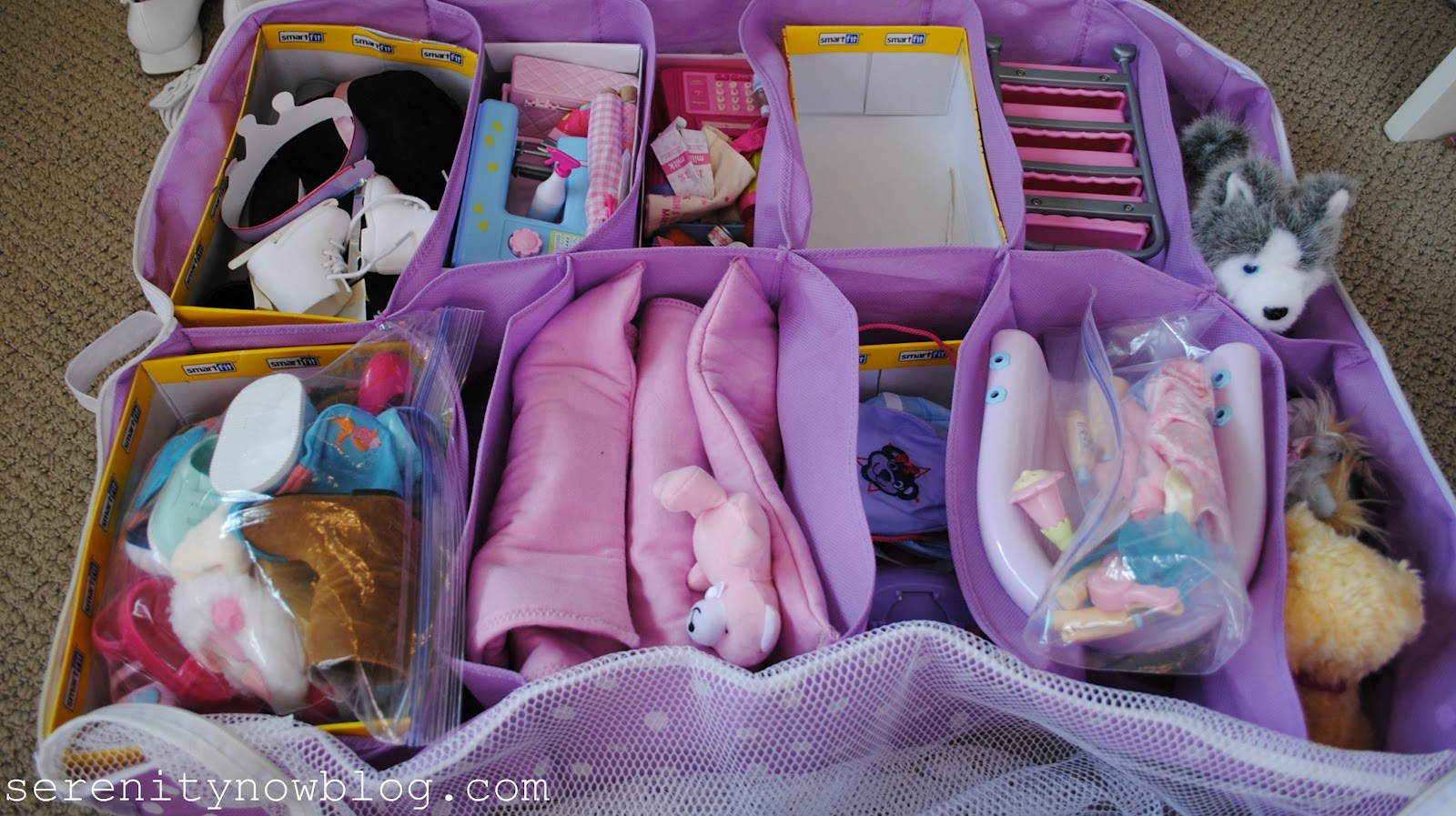 This Makes It So Much Easier For The Girls To Keep Things Organized, And  When They Are Done Playing, The Bins Go Back Under The Bed!