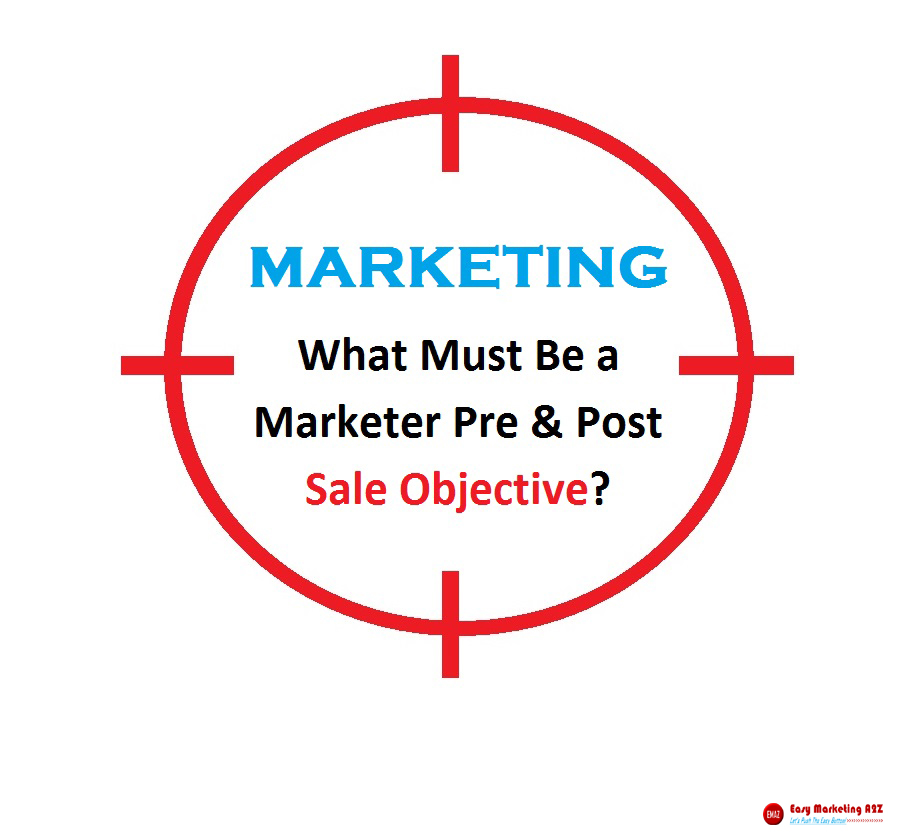 pre post sales objective