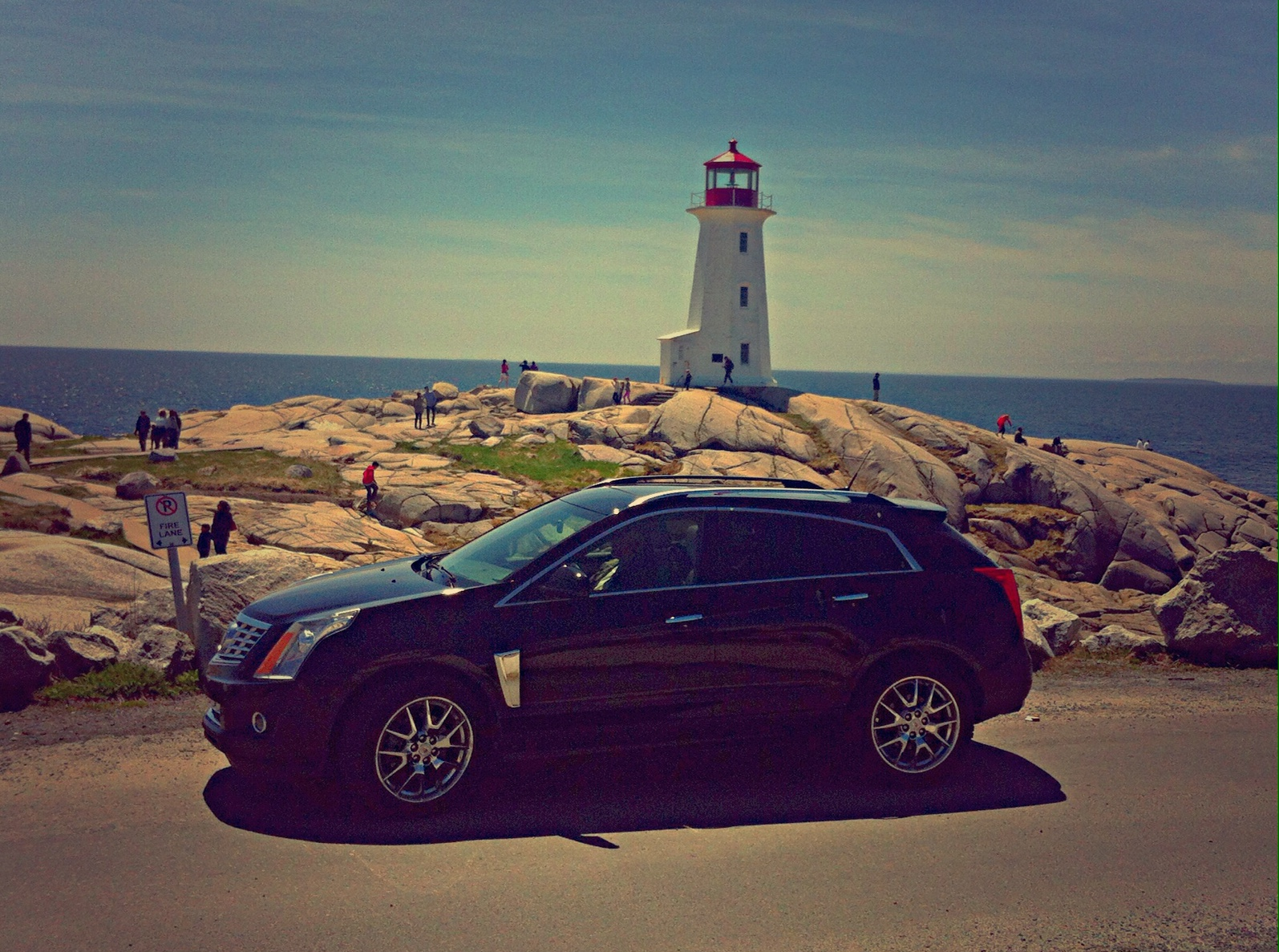 2014 Cadillac SRX Peggys Cove Lighthouse