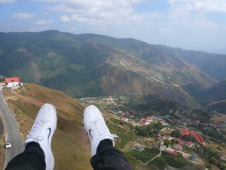 My feet (Paragliding)