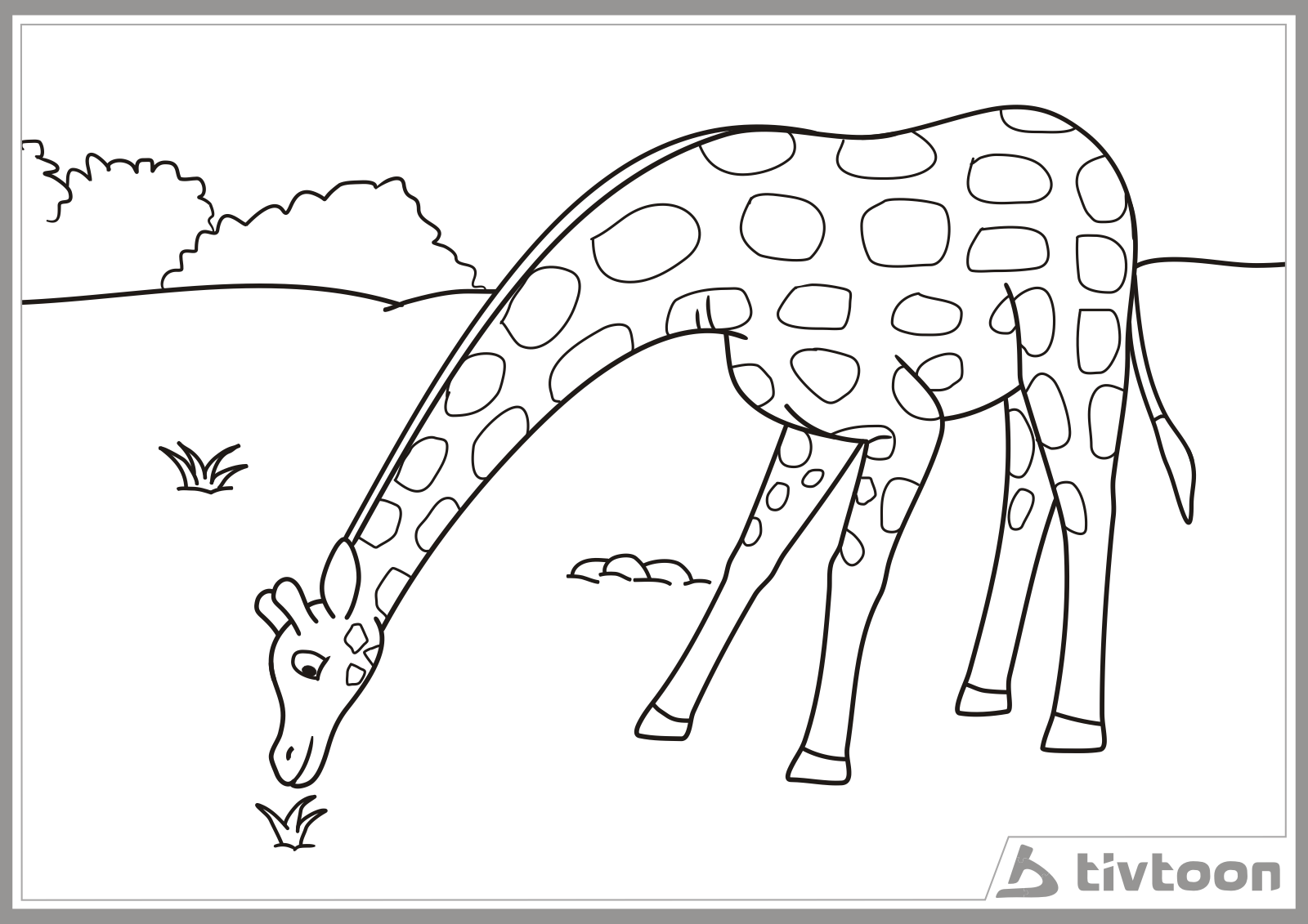 gambar kartun jerapah