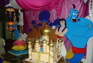Decoracion de Fiestas Infantiles con Aladino
