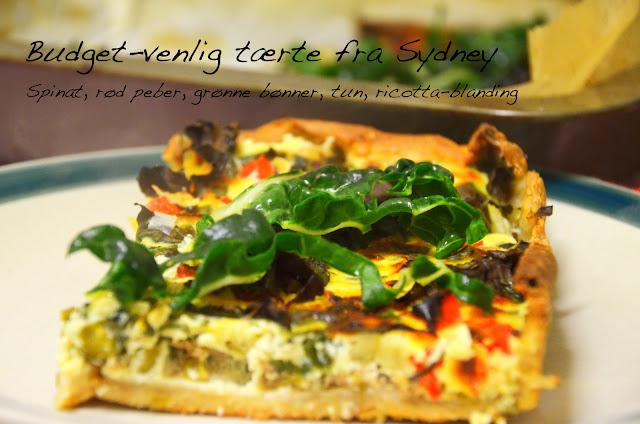 butterdejstærte med grøntsager