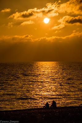 Закат на Черном море фото