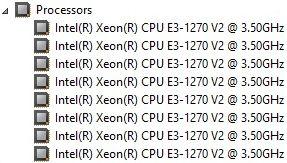 Processador Intel® Xeon® E3-1270V2 (4-Core @ 3.50GHz)