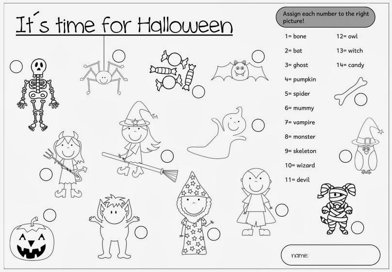 Charmant Halloween Arbeitsblätter Für Vorschüler Bilder - Super ...